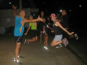 Having fun with fellow ka-Ungo in one of the Friday Night Runs (photo by Dennis Igloria)