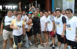 Running in Cagayan de Oro with my Mindanao colleagues